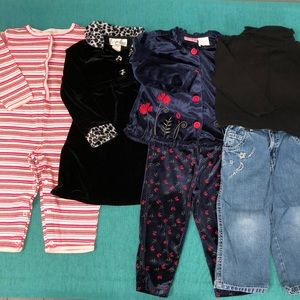 3 outfits, 1 dress size 24mos/2T